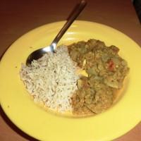 Kuřecí kari s červenou čočkou a basmati rýží